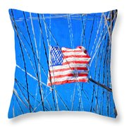 Ships Flag Throw Pillow