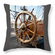 Ship's Helm Throw Pillow
