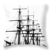 Ships Hms 'agincourt Throw Pillow
