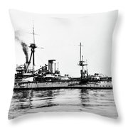 Ships Hms 'dreadnought Throw Pillow