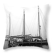 Ships Of Volendram Throw Pillow