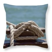 Ships Rigging I Throw Pillow