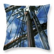 Ships Rigging Throw Pillow