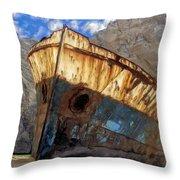 Shipwreck At Smugglers Cove Throw Pillow