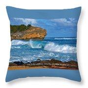 Shipwreck Beach Shorebreaks 1 Throw Pillow