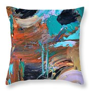 Shipwreck Harbor Throw Pillow