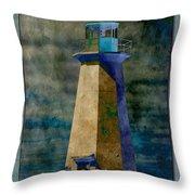 Shipwreck Point Lighthouse Throw Pillow