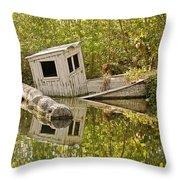Shipwreck Silver Springs Florida Throw Pillow