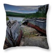 Shipwrecks At Neys Provincial Park No.3 Throw Pillow