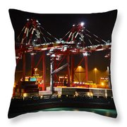 Shipyards  Callao Port Lima Peru Throw Pillow