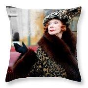 Shirley Maclaine @ Tv Serie Downton Abbey  Throw Pillow