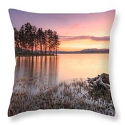 Shiroka Polyana Lake  Throw Pillow