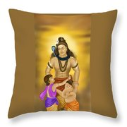 Shiva Family.  Throw Pillow