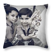 Shiva Stickers Throw Pillow