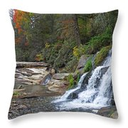 Shoal Creek Area Waterfalls Throw Pillow