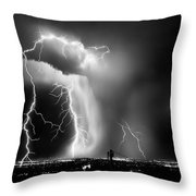 Shock Attack Throw Pillow