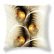 Shock Waves Throw Pillow