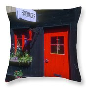 Shoe Repair Shop Throw Pillow