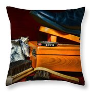 Shoe - Time For A Shine Throw Pillow