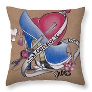 Shoeaholic Throw Pillow