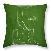 Shoes And Boots Crimping Board Patent From 1881 - Green Throw Pillow