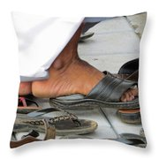 Shoes At The Door Throw Pillow