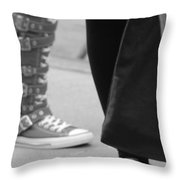 Shoes In Black And White Throw Pillow