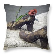 Shoes On The Danube Bank Throw Pillow