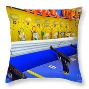 Shoot The Clown Throw Pillow