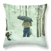 Shootin' In The Storm Throw Pillow