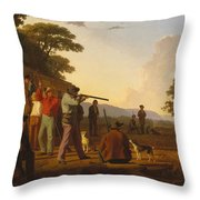 Shooting For The Beef Throw Pillow