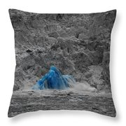 Shooting Glacier Throw Pillow by Camilla Brattemark