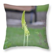 Shooting Green Throw Pillow