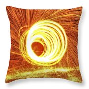 Shooting Sparks Throw Pillow