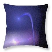 Shooting Star Abstract Throw Pillow