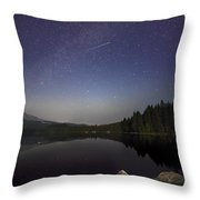 Shooting Star At Trillium Lake Throw Pillow