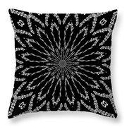 Shooting Star Black And White Kaleidoscope Throw Pillow
