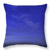 Shooting Star Over Bar Harbor Throw Pillow
