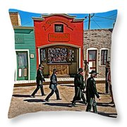Shootout At The Ok Corral In Tombstone-arizona Throw Pillow