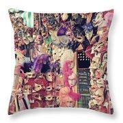 Shop In Venice Throw Pillow