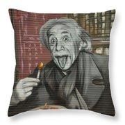 Shop Window Metal Blind Einstein Throw Pillow