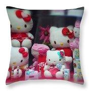 Shop Window Spain Throw Pillow