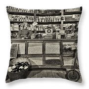 Shopping At The General Store Throw Pillow by Priscilla Burgers