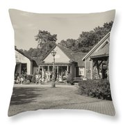 Shopping In Smithville Throw Pillow