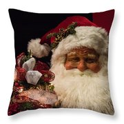Shopping Mall Santa Throw Pillow