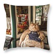 Shopping's A Bear Throw Pillow