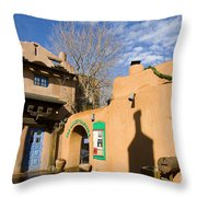Shops At Santa Fe New Mexico Throw Pillow