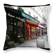 Shops On Rue Cler Throw Pillow