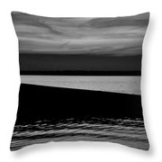Shore Boat Bw Throw Pillow