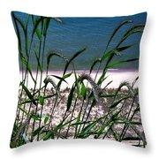 Shore Grass View Throw Pillow